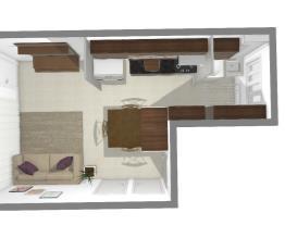 Cozinha e Sala apartamento vitta via norte