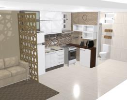 Sala/cozinha/banheiro 7,27m