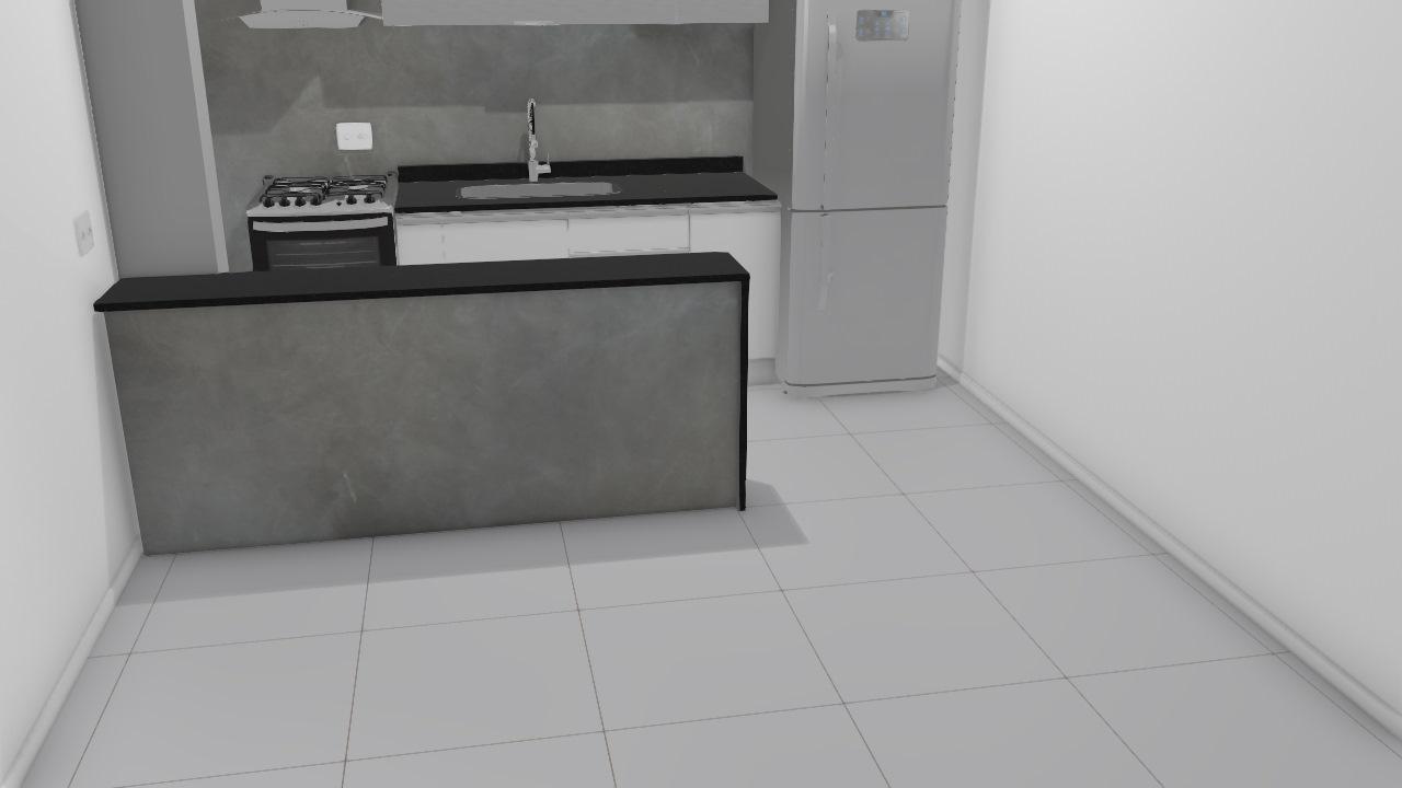 Sala com rack separatorio