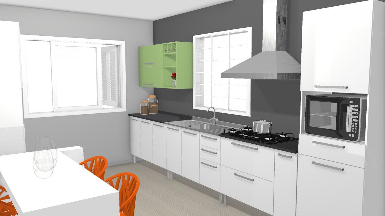 Cozinha Dandara Amarela - Verde