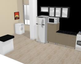Cozinha Modulada em Aço Completa 4 Módulos Play Bege Baunilha/Preto Jabuticaba - Casamob
