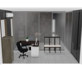 Escritório com sala de reuniões