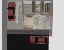 Casa baixo custo com bloco