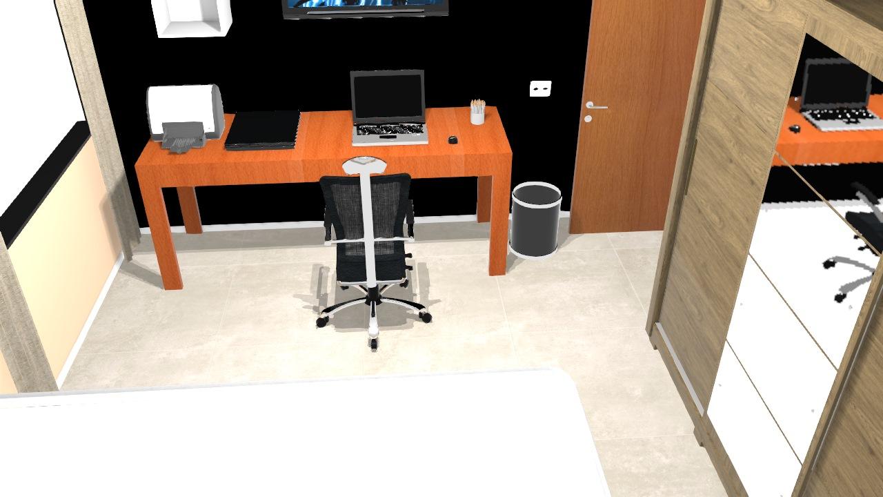 Modelo de  quarto 3D
