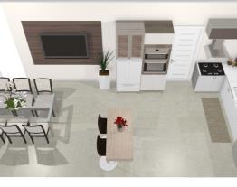 Cozinha integrada sala jantar - Graziela Lara