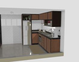Sala de estar + sala de jantar + cozinha