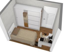 Dormitório 1 com pilares