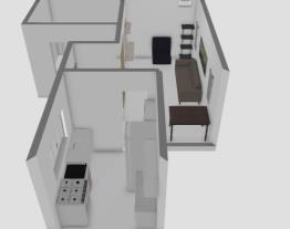 sala com hall de entrada e persiana na sala