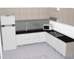 cozinha solaris carvalle com branco