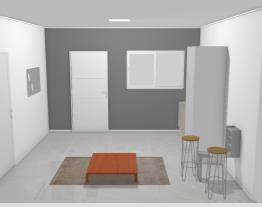 cozinha, sala de jantar e sala