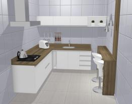Cozinha Grenoble Branco Brilho