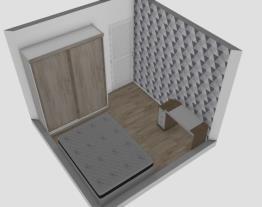 Quarto do meio sem armário