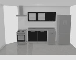 Cozinha parede da bancada