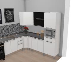Cozinha Dandara Preta e Branca 2 piso