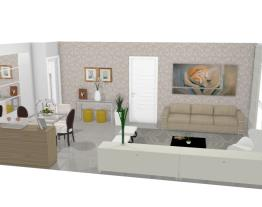 Salas pequenas integradas - Graziela Lara