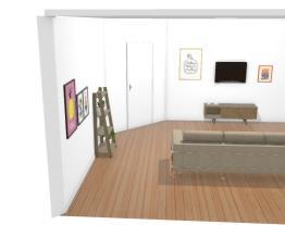 sala moderna e simples