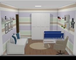 simulação quarto de bebe menino