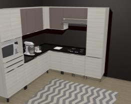 Cozinha Modulada Completa 9 Módulos Versatti Nacre/Moka - Kappesberg