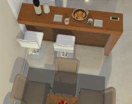 Sala de estar/jantar e cozinha dos sonhos