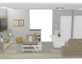 6 Salas integradas pequenas - Graziela Lara