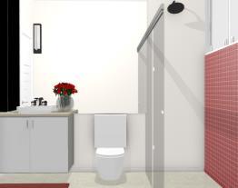 Banheiro social loft - Graziela Lara