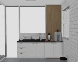 Meu projeto Henn Cozinha MRV corredor - Lado da Pia