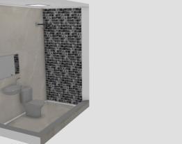 Projeto Banheiro com pastilha escura