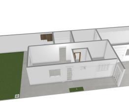 planta casa cozinha  frente e sala visita e quarto ao fundo