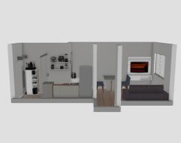 cozinha e sala de estar-jantar