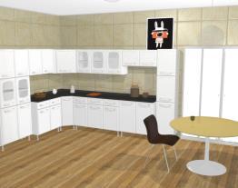 Cozinha Modulada Completa 11 Módulos Evidence em Aço Branco - Bertolini