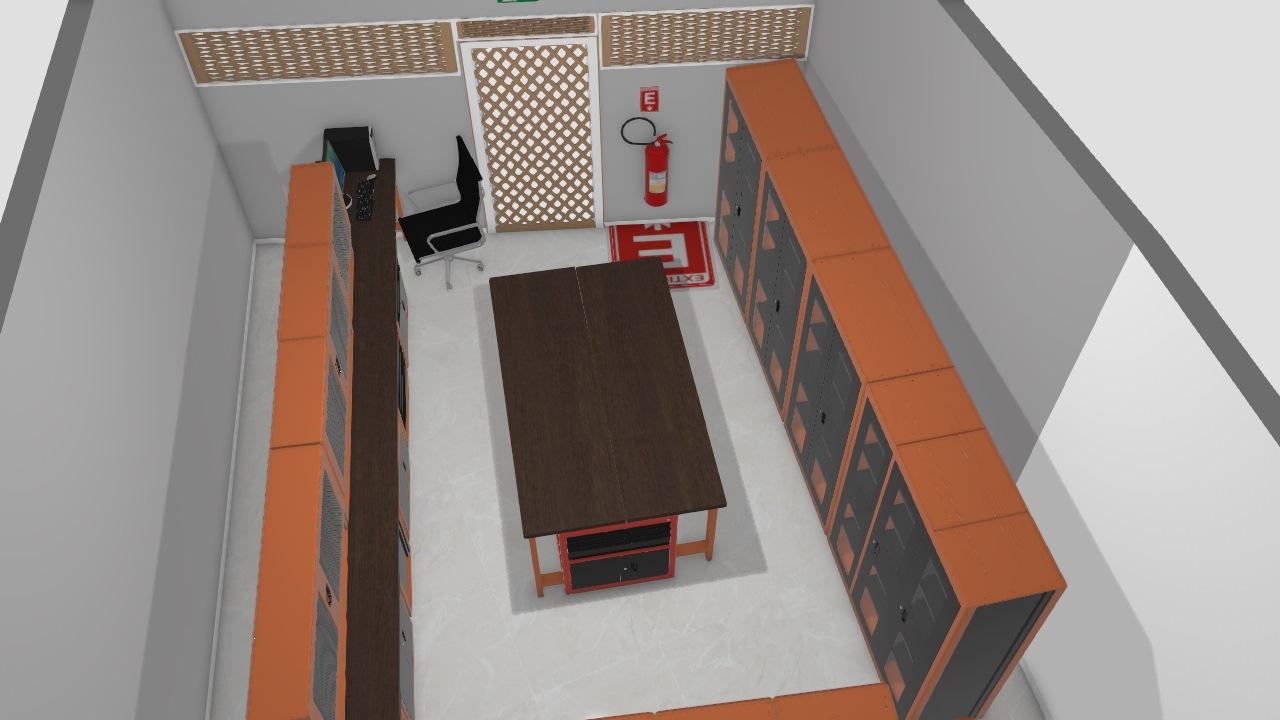 Oficina Elétrica com mesa