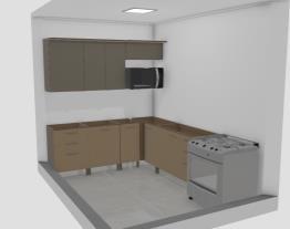 cozinha aurea com aereo de vidro