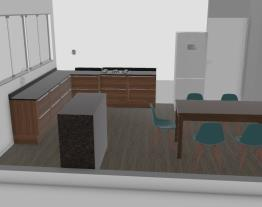 Área Cozinha e sala conjugada