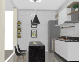 Cozinha - Armário branco vidro