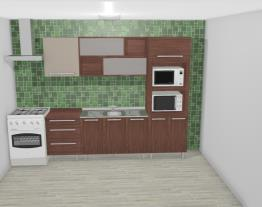 Cozinha Modulada Completa com 6 Módulos Smart Turin/Cristal - Henn