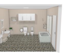 casa de banho quarto duplo