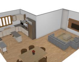 Meu projeto no Mooble sala e cozinha