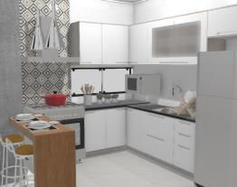 Cozinha fogão 5 com janela