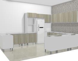 cozinha planejada com peninsula