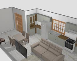 sala cozinha da casa 500m2