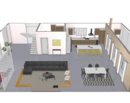 Projeto Casa conceito aberto - 1 andar