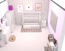 quarto criança roxo