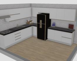 Cozinha em L com península