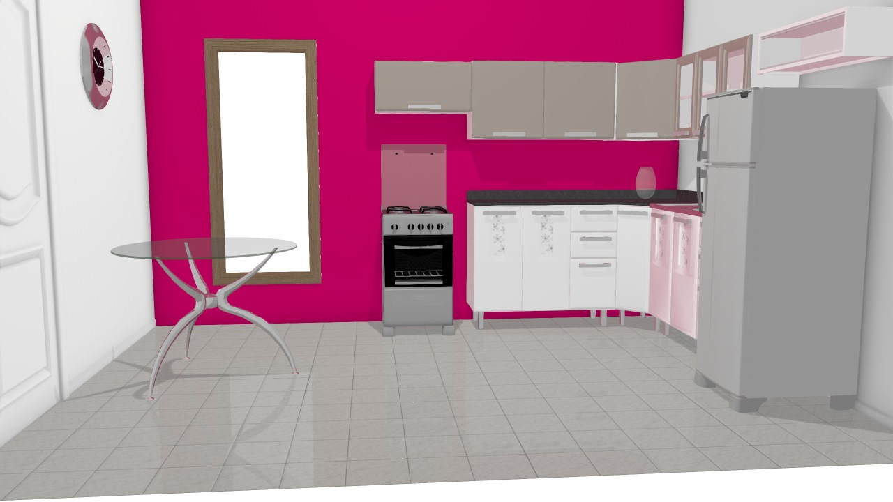 Essencial Bella - parede rosa