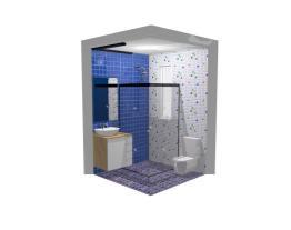 Banheiro de 3,06 m2
