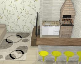nova sala com churrasqueira