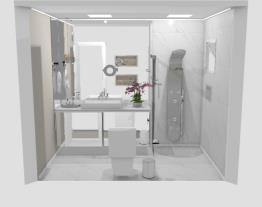 Banheiro social - designer Graziela Lara