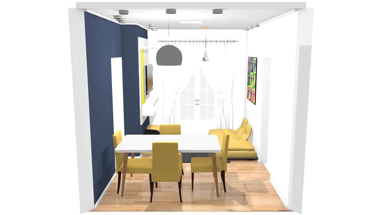 sala e sala de jantar