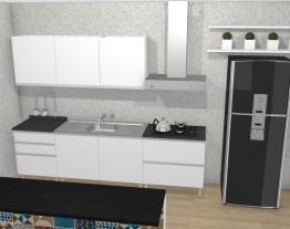 Cozinha Clarice Azul - Branco