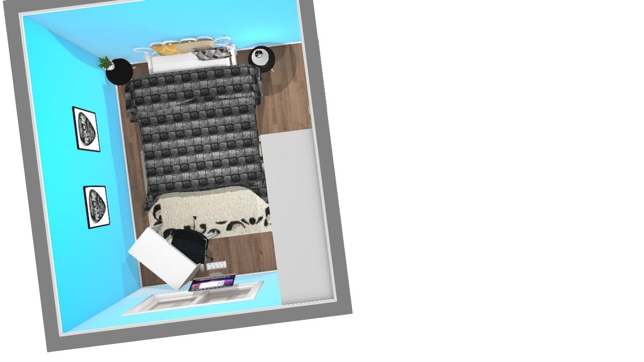 escritório com uma cadeira